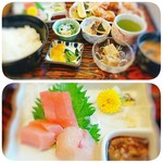 美弥杉 - 料理写真:ランチB定食1000円税込とB定食のお刺身
