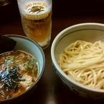 64570508 - 生ビールセット(つけ麺) 1000円
