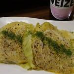楽酒楽肴 越冬 - 泉州きゃべつ肉詰め蒸し円