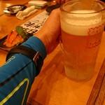 きんちゃん家 - まずはビールで乾杯