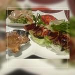 薔薇屋 - 料理写真:*バーベキューチキン&豚の角煮