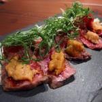 肉バルpippi - うに牛刺(950円)
