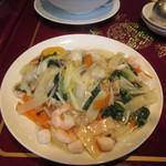 中華楼 - 海鮮炒麺