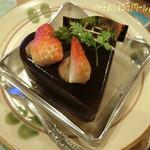 FLO・プレステージュ - ハートのショコラノワール☆彡 ホワイトデーのケーキ=3=3=3 FLOのケーキ、美味しいよね〜♪