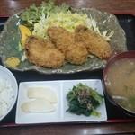 活魚 千葉屋 - 赤崎産かきフライ(定食)