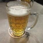 グロリアスチェーンカフェ - 先ずは一年ぶりの再会を祝してビールで乾杯です。