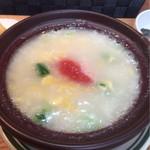 マーケット カフェ - ホテル朝食メニュー 明太子雑炊