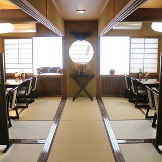 古い日本家屋の寛げる店内