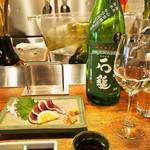 わっちょい - ツムラ本店 河内鴨のタタキ & 石槌 純米吟醸
