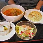 中華麺食堂かなみ屋 - ラーメンランチ(担々麺 & 五目チャーハン)