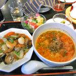 中華麺食堂かなみ屋 - ラーメンランチ(担々麺 & 五目中華丼)