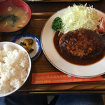 三福亭 - ハンバーグ定食(1100円)