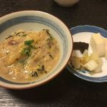 池田 銀なべ - 雑炊、香の物