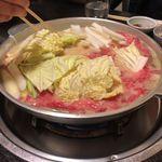 池田 銀なべ - 野菜投入