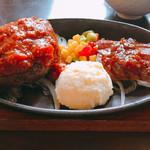 64605983 - 近江牛ハンバーグと和牛ランプステーキです。(2017.3 byジプシーくん)