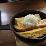 ひつじcafe - 鉄板フレンチトースト