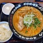 味噌乃マルショウ - 千日味噌ラーメン+ランチセット餃子2個ライス