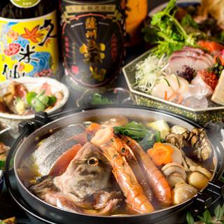 【3時間飲み放題】贅沢♪赤辛海鮮鍋付7品2999円~!