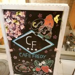 CAFE FREDY - 可愛らしいイラスト♡