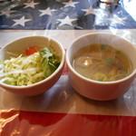 64612148 - サラダとスープが来ます~