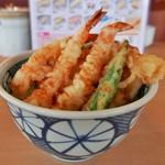 揚げたて天ぷら やぐら - 上海老天丼(650円)
