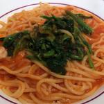 パスタバル ドン ピノキオ - 海老とほうれん草のトマトソース