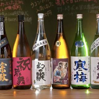全国の個性派日本酒が100種以上!ゆっくりと堪能