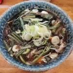 笠置そば - 山菜ワカメ玉子そば\570(17-03)