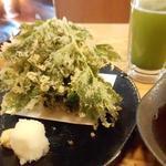 八丈島 - あしたばの天ぷら680円