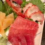 竹家寿し - 料理写真:上刺身定食(\1,580) まぐろ・中トロ・たこ・甘えび