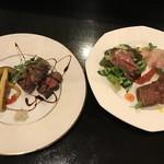 MICHEL - 前菜3種+メイン牛フィレステーキ(150g)