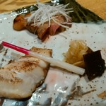 手打ち蕎麦 鴨料理 文楽 - 伊佐木の若狭焼き・天草豚の西京焼き