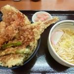 64620288 - 桜海老天丼セット(税込980円)