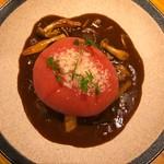 山本のハンバーグ - 数量限定トマトのせハンバーグ1530円