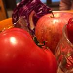 山本のハンバーグ - 今日の野菜ジュースで使われた野菜