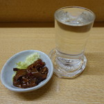 ちょっとばぁ - 2017.03 いか三升漬け(250円)とお酒(250円)