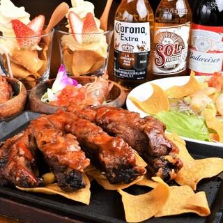 肉好き派の為のステーキ付きコースをご用意!!