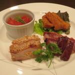 中国料理 丹甫 - 料理写真:前菜おまかせ4種盛りあわせ(ハーフ)