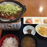 レストラン味彩七杜 - 料理写真:飛騨牛ほう葉みそ焼肉御膳1810円(2017.03)