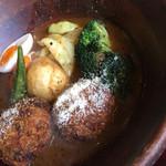 しんペー - アボカドコロッケと春野菜のスープカレー《1300yen》