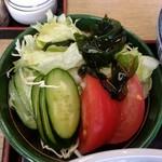 すかや - 【2017.3.30(木)】らーめんセット(並盛)780円の野菜サラダ