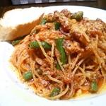 ウ・パドリーノ - 豚肉といんげんのトマトソース