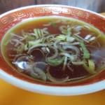 本場長崎チャンポン 福々亭 - チャーハンについてくるスープ。
