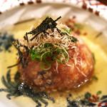 【おすすめ】茶巾豆腐(海鮮と野菜の揚げ出し)