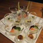 創作料理とワインのお店 上田 慎一郎 - クリスタル前菜の盛り合わせ