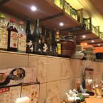 鶴亀飯店 - カウンター席からの眺め