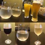 Nippon食の森 あざれあ - 新攻・恵那山・ファジーネーブル・オレンジJ・生中・赤ワイン・獺祭・白ワイン
