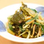 ベトナミング - もやし、ニラ、高菜の酢の物@300円
