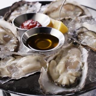 いつきても新鮮でクオリティ◎な生牡蠣が何種類も!