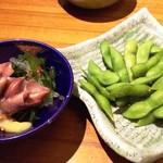 和民 - ホタルイカの酢味噌和え&枝豆